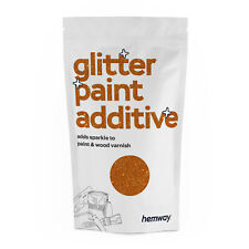 Hemway Copper Glitter Paint Additive Crystals for Emulsion Walls Ceiling Bedroom