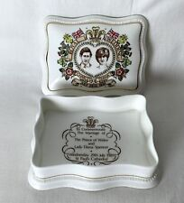 Vintage Sutherland Bone China Box Prince Charles Princess Diana Wedding 1981