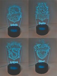 Harry Potter Night Light, Hogwarts House Night Light, Personalised LED neon