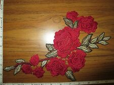 Appliques Embroidery Patch Motif Floral Flower Thread Applique For Sew on 2pcs