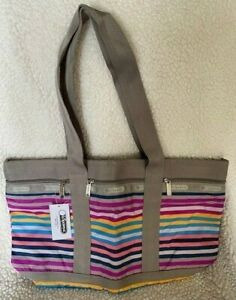 NWT Medium Travel Tote in Snappy Stripes Lightweight so cute