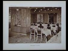 L'ARCHITECTE 1926 PARIS RESTAURANT PRUNIER, GEMEINDEBAU WIEN, AUGUSTE PERRET