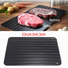 New Defrosting Tray Aluminium Meat Thaw Thawing Miracle Frozen Food Defrost Fast