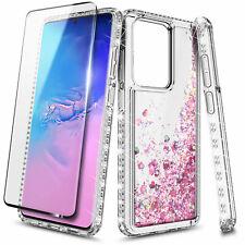 For Samsung Galaxy Note 10 9 8 S8 Plus S20 Ultra Liquid Glitter Case Soft Cover
