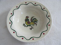 Metlox Poppytrail California Provincial-Red/Green Rooster-Fruit/Dessert Bowl(s)