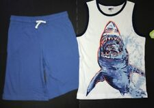 crazy 8 Boys 10-12 Shark Tank Blue Shorts