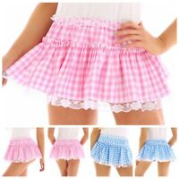 Womens Lady Mens Tennis Short Skirt Lace Pleated Skater Flared Mini Skirt Shorts