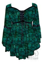 Dare to Wear OPHELIA Gothic Renaissance Corset Top Green IVY Jr M Medium