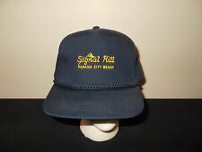 VTG-1980s Signal Hill Panama City Beach Florida golf rope snapback hat sku28