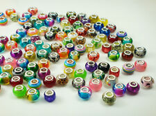 50pcs mix murano DIY Jewelry charm LAMPWORK bead fit European Bracelet gift a8