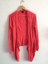 Mango Thin Knit Open Cardigan Size XL Fuchsia Pink <R12309