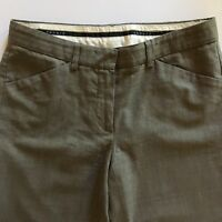 Theory Womens Dress Pants Gray Beige Wool Flat Front Flare Stretch Career Size 0