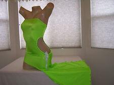 New Stripper Exotic Dancer Neon Green Keyhole Salsa Dress M/L Stripperwear