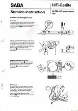 Service Manual-Anleitung für Saba Ultra HiFi professional 900