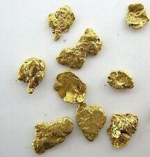 Alaskan Yukon Gold Rush Nuggets  #8 Mesh .78 Gram or 1/2 dwt of Fines