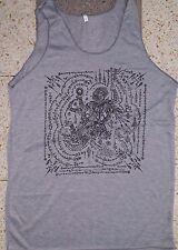 Men Tank Top sleeveless dragon demon bali Om thai hindu NEW hippie om Cotton L