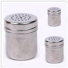 Stainless Steel Cruet Salt Pepper Seasoning Condiment Box Spice Shaker Bottle SM