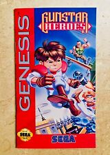 Gunstar Heroes - Sega Genesis - Reproduction Manual - Custom Instruction Booklet