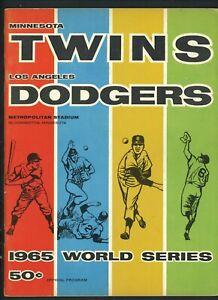 1965 World Series Program Minnesota Twins vs Los Angeles Dodgers Sandy Koufax