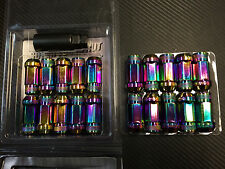 1320 Performance Neo Chrome 14x1.5 Steel extended lug nuts m14 x 1.5 20 pcs
