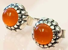 PANDORA | BIRTHDAY BLOOMS CARNELIAN STUD EARRINGS *NEW* 290543CAR RARE RETIRED