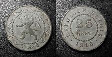 Belgique - Albert Ier - 25 centimes 1918 - KM#82