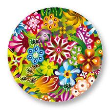 Porte clé Keychain Ø45mm Motif Pattern Colore Plante Fleur Flower Bouquet flore