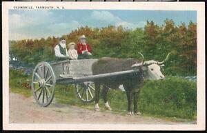 YARMOUTH NOVA SCOTIA CANADA Oxomobile Ox Cart Vintage Postcard Old Canada PC