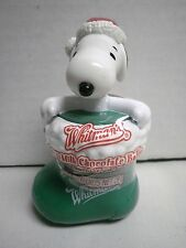 Whitman's Whitmans Candies Peanuts Snoopy in a Green Christmas Stocking Figurine