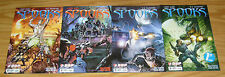 """Spooks #1-4 VF/NM complete series R.A. SALVATORE all """"a"""" variants LARRY HAMA 2 3"""