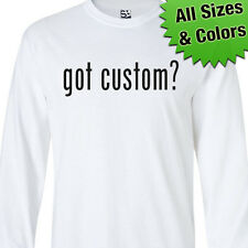 Got Custom LONG SLEEVE T-Shirt - Personalized Milk? Milk Text - All Sizes Colors