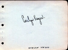 "EVELYN KEYES (ACTRESS) SIGNATURE ON CARD ""GONE WITH THE WIND"" BN4136"