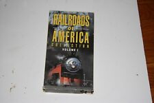 VHS VIDEO TAPE TITLED: RAILROADS OF AMERICA VOL.1  SHOWS SLIGHT USE