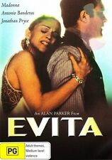 EVITA DVD - MADONNA - RARE OOP - Region 4 Aust.
