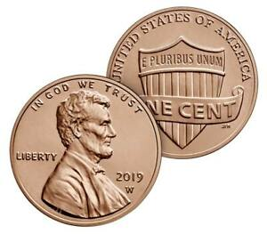 2019-W Lincoln Shield Cent Uncirculated - With Envelope
