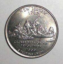 1999 US Quarter, 25 cents, New Jersey, Washington Monroe, coin