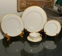 Lenox Tuxedo Gold 5 Piece Traditional Place Setting Gold Trim USA - 12 Available