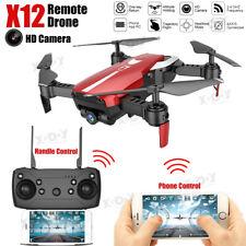 X12 Drone 0.3MP HD Dual Camera FPV Follow Me RC Quadcopter 4CH Aircraft Travel