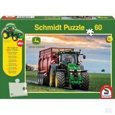Schmidt Jigsaw John Deere 8370R With Original Tractor For Children 60 Pieces Toy