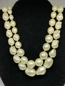 Charter Club Gold-Tone Imitation Pearl Double-Row Collar Necklace MSRP $69 CP379