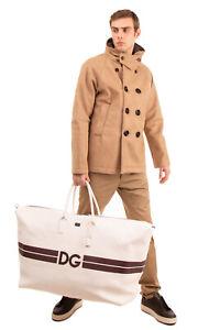 RRP €3350 DOLCE & GABBANA Leather Oversized Travel Bag Grainy DG Logo Zipped