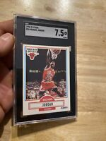 Michael Jordan SGC 7.5 Fleer 1990 #26 Collector FIGHT INFLATION Last Dance NR