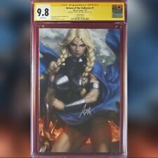 RETURN OF THE VALKYRIES #1 ARTGERM VARIANT COVER CGC 9.8 SS SIGNED BY ARTGERM