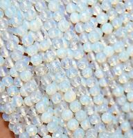"4mm Genuine Natural Faceted Opal Gemstone Round Loose Beads Strand 15"" AAA"
