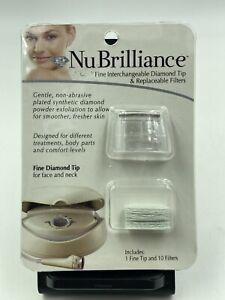 NIB NuBrilliance Microdermabrasion Replacement Diamond Tip & 10 Filters