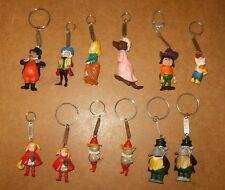 RARE 12 anciens porte clés figurines publicitaires - soupe UNOX - 60/70's