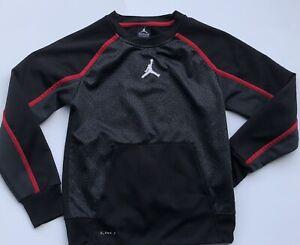 nike air jordan youth medium top black long sleeve