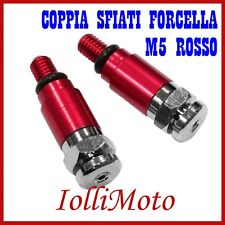 COPPIA SFIATI FORCELLA SHOWA ROSSO M5 P. 0,8 MOTO CROSS ENDURO OFF ROAD PIT BIKE