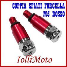 COPPIA SFIATI FORCELLA SHOWA ROSSO M5 P. 0,8 MOTO CROSS ENDURO OFF ROAD PIT BIKE
