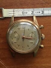 3 Vintage Chronograph Suisse Men's Watch  Landeron  48 1960's Parts Dial Ébauche